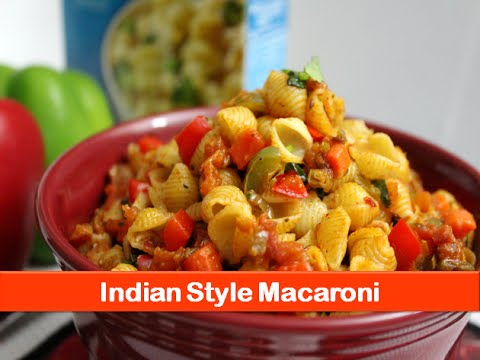Macaroni pasta recipe simple easy Indian style vegetarian recipes dinner lunch idea-letsbefoodie.com