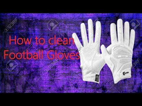 How to clean football gloves