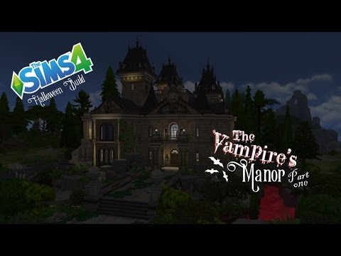 The Sims 4 - Halloween Build - The Vampire's Manor - Part 1