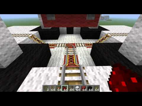 ► Minecraft Tutorial 3 Way Minecart Intersection