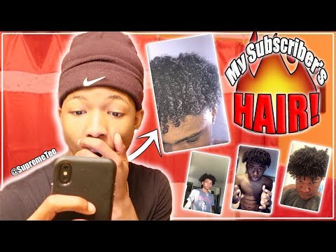 I Reacted To ALL of My Subscribers HAIR! (Better Than Mines?!)