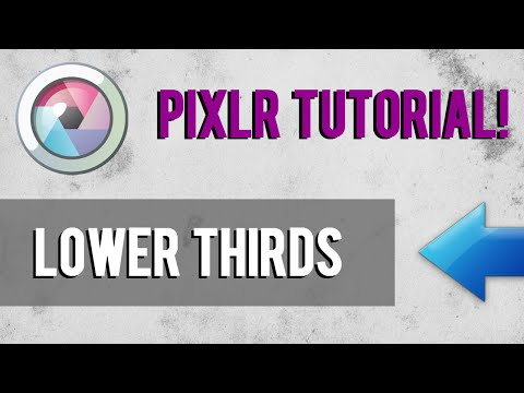 Easy Way To Make Lower Thirds in FREE SOFTWARE! | Pixlr/Premiere Tutorial 2016!