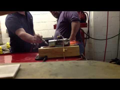 tin can jet engine test run