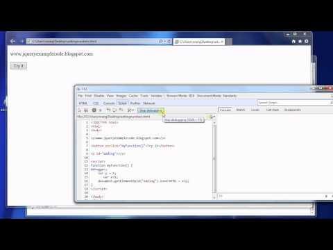 How to debug javascript program in internet explorer