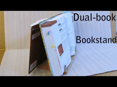 DIY: Home made heavy duty dual-book bookstand, simple & easy
