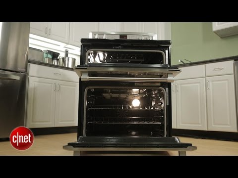 Maytag's plasticky double-oven range lacks curb appeal