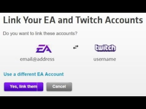 LINKING EA AND TWITCH ACCOUNT - FREE PRIZES