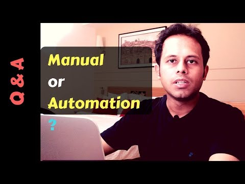 QnA Friday 37 - Manual OR Automation ?