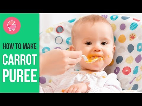 How to make carrot puree for babies | 1 min puree video