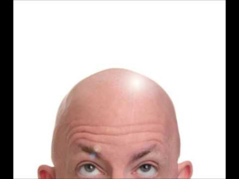 shiny bald head