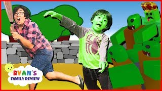 Ryan Plays Zombie Attack on Roblox! Gaming Night with Ryan's Family Review