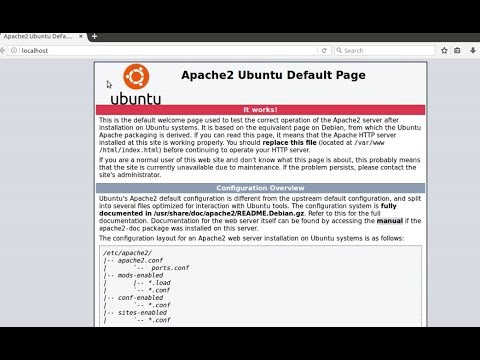 How to install apache, php, mysql & phpmyadmin on Ubuntu 16.04