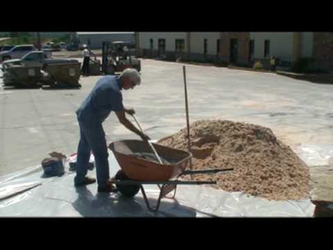 Mixing Cement for Artificial Stone