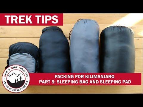 Kilimanjaro Packing: What Sleeping Bag & Pad to Pack? (Part 5/9)| Trek Tips