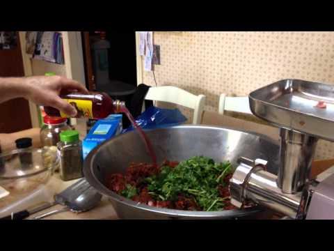 making some all natural hand made chorizo sausage.