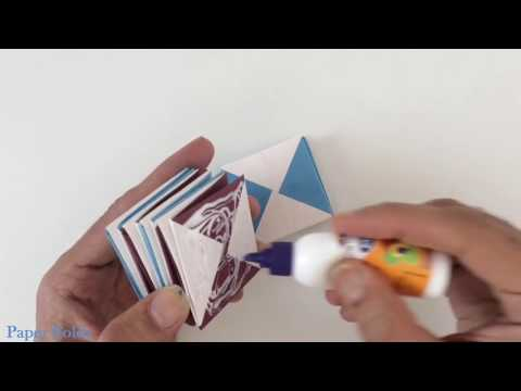 Magic Spiral Cube Box origami