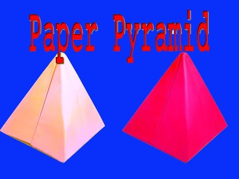 HOW TO MAKE A PAPER PYRAMID//VERY EASY//