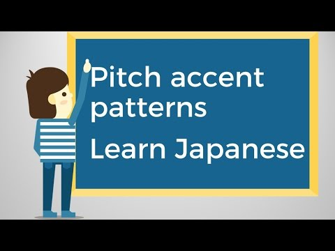 Pitch accent pattern I Learn Japanese