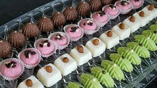 حلويات بدون فرن بمكونين اساسين فقط و كاتجي رائعة الشكل و المذاق /حلويات العيد 2018