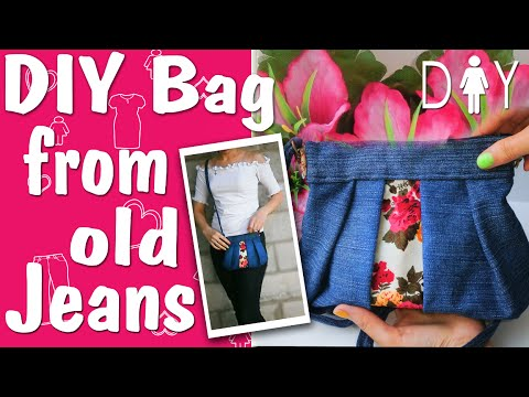 DIY BAG. Make a bag (Bag from old jeans)