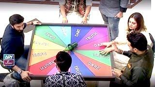 """Faysal Qureshi,Ayaz Samoo & Aijaz Aslam playing """"Truth or Dare"""" game in Salam Zindagi"""