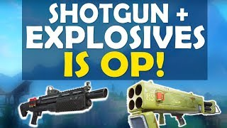 SHOTGUN + EXPLOSIVES: THE ONLY WEAPONS YOU NEED!  | HIGH KILL FUNNY GAME - (Fortnite Battle Royale)