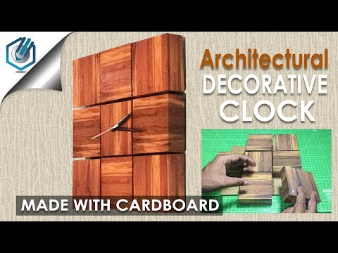 DIY Decorative Clock for ARCHITECTURAL  Purpose (GIVEAWAY)