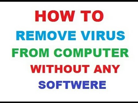 Remove Virus From your Computer By using Command || remove virus without antivirus windows 7