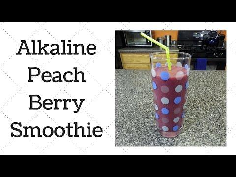 Peach Berry Smoothie Dr. Sebi Alkaline Electric Recipe