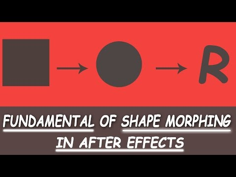 Shape Morphing in After Effects - Fundamental of shape morphing