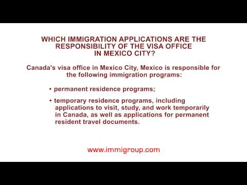 Which immigration applications are the responsibility of the visa office in Mexico City?