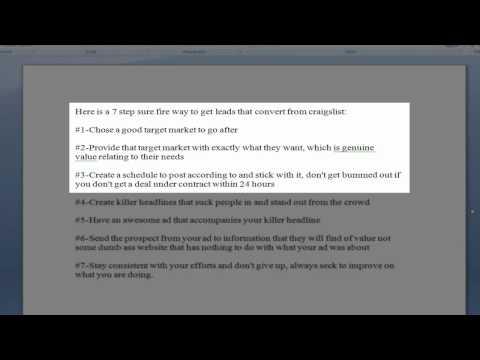 Easy Craigslist Real Estate lead generation-7 Step Craigslist Real Estate lead Generation Formula