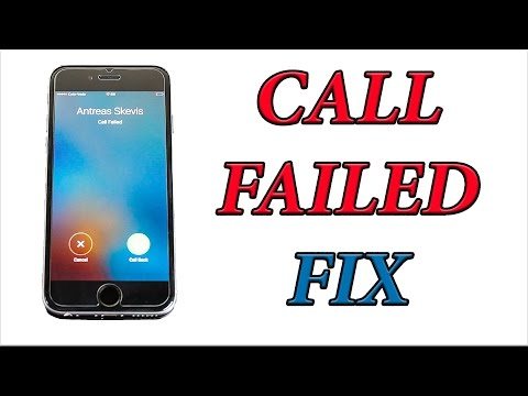 How To Fix IPhone 6 Call Failed Issue / Problem