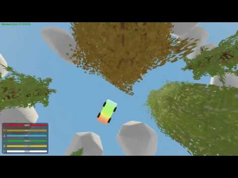 How to spawn in and drive a flying car in Unturned