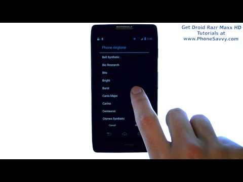 Motorola Droid Razr Maxx HD - How Do I Change The Ringtone