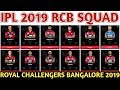 IPL 2019 Royal Challengers Bangalore Team Squad RCB Confirmed Final Squad RCB Players List