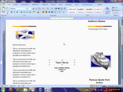 Brochure Template & Printing Tutorial