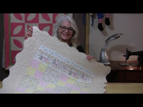 Easy Easter Quilt with Scalloped Borders