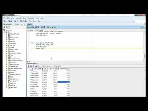 Oracle SQL Video Tutorial 28  - MAX and MIN functions