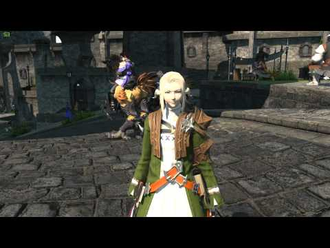 FFXIV ARR: New Ponytail Hairstyle from Gold Saucer (8000 MGP)