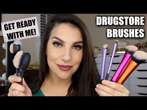 GET READY WITH ME! New Real Techniques Brushes