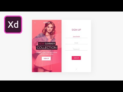 Mobile App UI Design in Adobe XD - 1 of 2