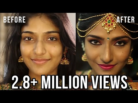 SOUTH INDIAN BRIDAL MAKEUP LOOK   MUGURTHAM MAKEUP   MAKEUP BY PREETHI