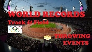 Track Field World Records In Throwing Events