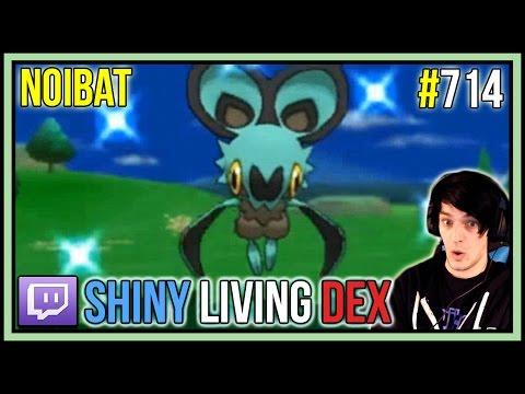 [LIVE] SHINY NOIBAT REACTION! | Shiny Living Dex #714 | Pokemon X and Y