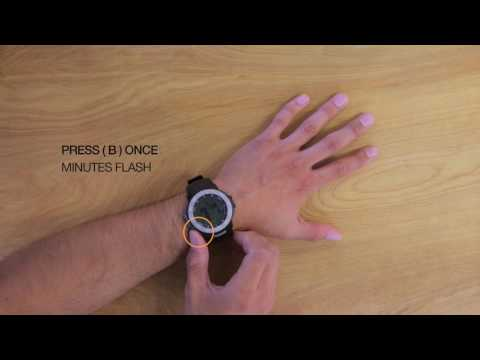 How to Set the Time on your Armitron Adventure AD/1011 Digital Watch