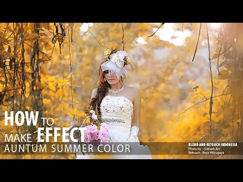 Photoshop Tutorial Easy  Make Colors Autumn Effect