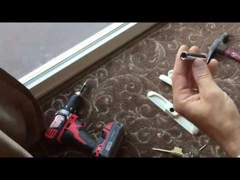 Installing a Sliding Glass Door Lock With Keys