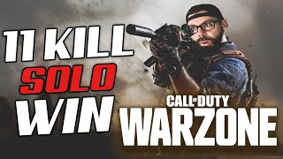 MY FIRST SOLO WIN IN WARZONE! INSANE END GAME! - Call Of Duty Warzone