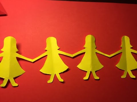 [Dolls Chain Princess] How to Make a Paper Dolls Chain Dolls  Paper Art Projects Easy Tutorials